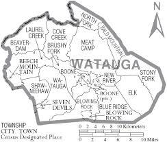 Watauga Boone NC Map